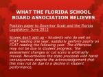 what the florida school board association believes2