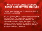 what the florida school board association believes3
