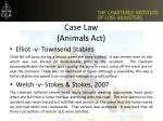 case law animals act
