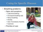 caring for specific illnesses6