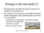 entropy in the real world 1