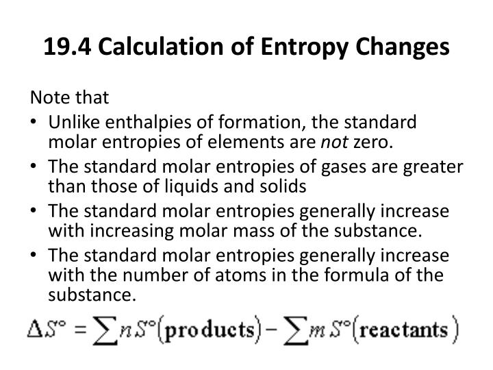 19.4 Calculation of Entropy Changes