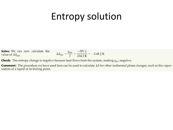 Entropy solution