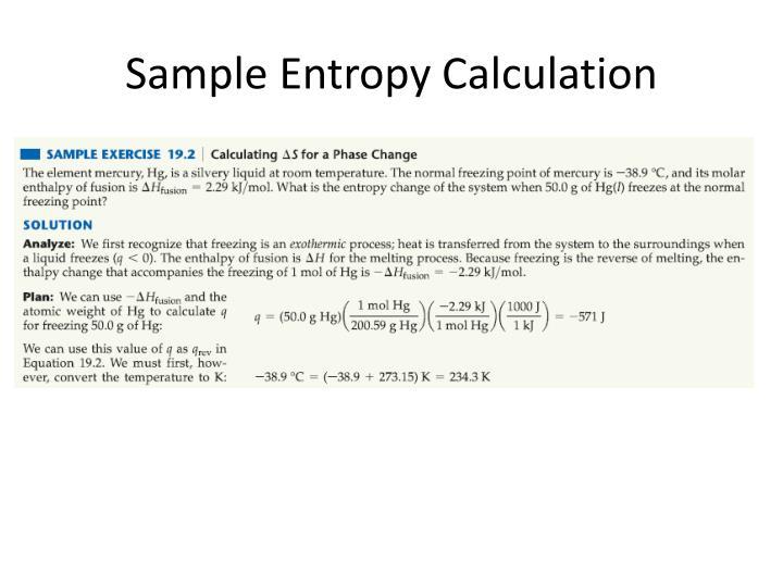 Sample Entropy Calculation