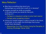 meta reflection