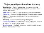 major paradigms of machine learning