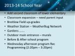 2013 14 school year