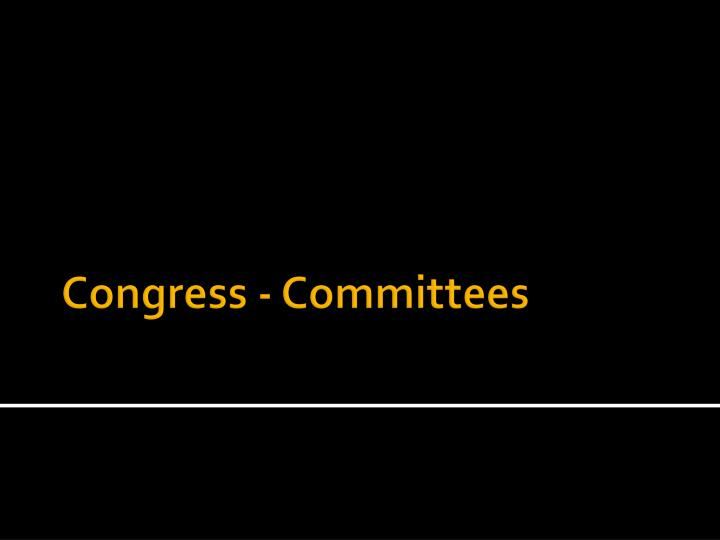 congress committees n.