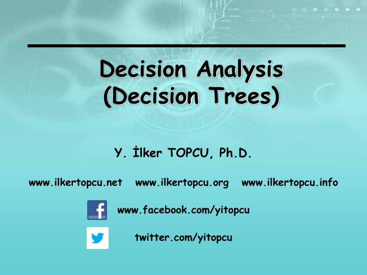 decision analysis decision trees n.