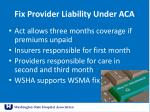 fix provider liability under aca