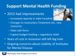 support mental health funding
