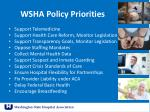 wsha policy priorities