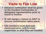 visits to fire line