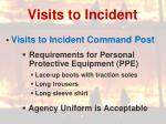 visits to incident