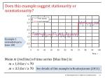 does this example suggest stationarity or nonstationarity