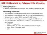 nci 9268 ibrutinib for relapsed hcl objectives