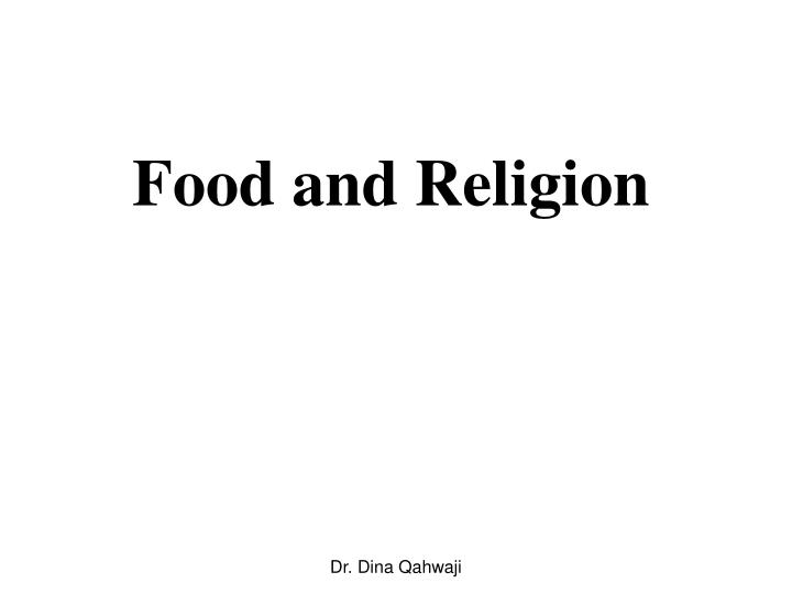 food and religion n.