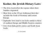 kosher the jewish dietary laws