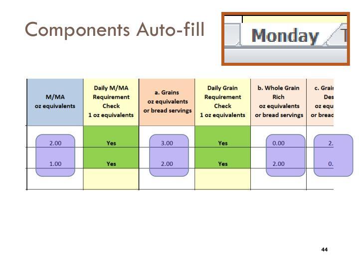 Components Auto-fill