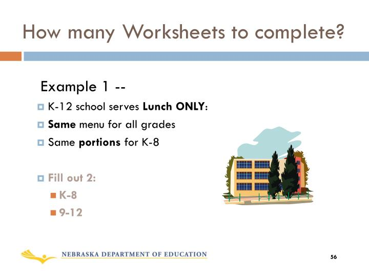 How many Worksheets to complete?