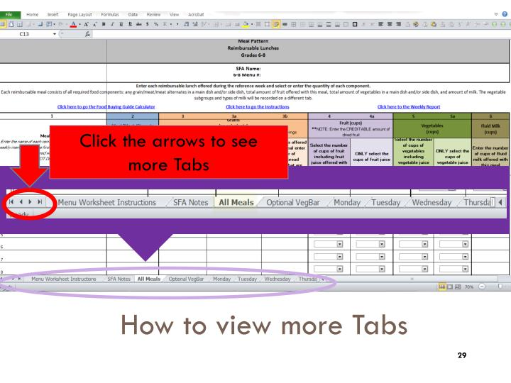 How to view more Tabs