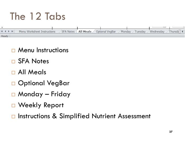 The 12 Tabs