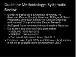 guideline methodology systematic review
