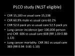 plco study nlst eligible