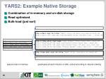 yars2 example native storage