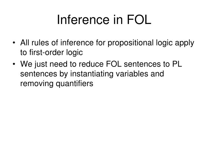 inference in fol n.