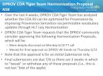 dprov cda tiger team harmonization proposal ask