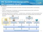 onc standards and interoperability s i framework lifecycle