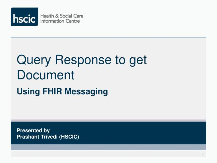 query response to get document n.