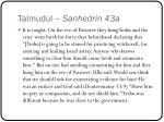 talmudul sanhedrin 43a