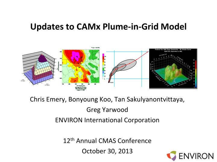 updates to camx plume in grid model n.