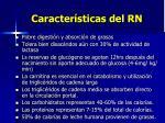 caracter sticas del rn
