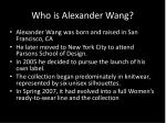 who is alexander wang