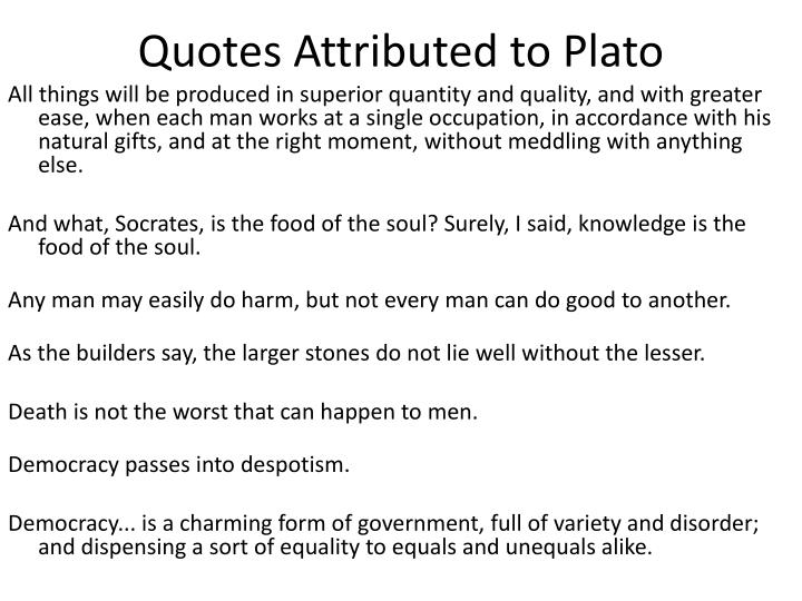Quotes Attributed to Plato