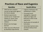 practices of race and eugenics1