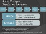 social changes population increases