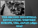 the second industrial revolution western europe usa japan 1850 1914