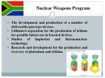 nuclear weapons program