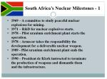 south africa s nuclear milestones 1