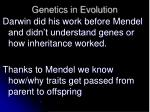 genetics in evolution