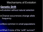 mechanisms of evolution1