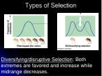 types of selection3