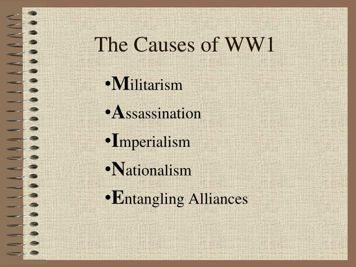 Ppt The Causes Of Ww1 Powerpoint Presentation Free Download Id 2198450