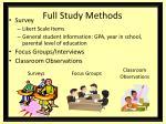 full study methods