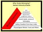 why study belonging