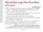 shouldering the burden of care